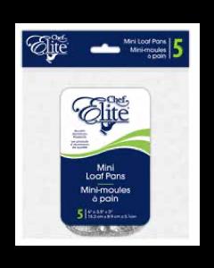 "Chef Elite Foil Mini Loaf Pans - 6"" x 3.5"" ~ 5 per pack"