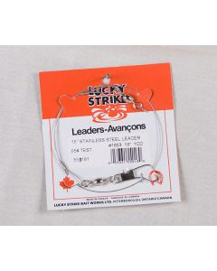"""Lucky Strike Stainless Steel High Test Leaders ~ 18"""""""
