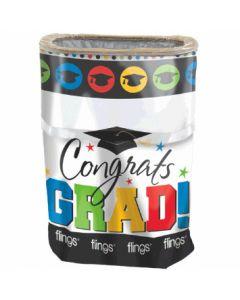 Congrats Grad! Plastic Flings Bin ~ 13 gallons