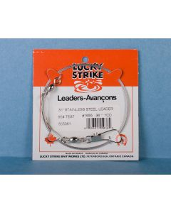 """Lucky Strike Stainless Steel High Test Leaders ~ 36"""""""