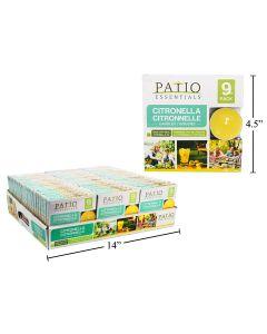 Citronella Tea Light Candles ~ 9 per pack