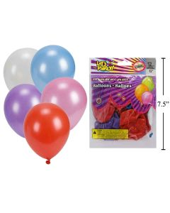 """12"""" Round Balloons - Assorted Metallic Colors ~ 12 per pack"""