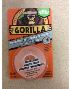 """Gorilla Mounting Tape ~ 1"""" x 60"""" ~ holds up to 10lbs"""