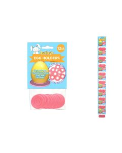 Easter Dudley's Plastic Egg Ring Holder - 12 per pack ~ 12 packs per clipstrip