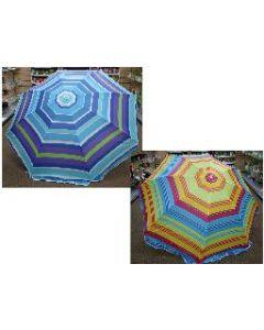 "Beach Umbrella w/Tilt ~ 42"" x 8 ribs"
