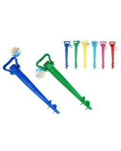 """Plastic Beach Umbrella Spike w/Pull Out Handle ~ 15""""L"""