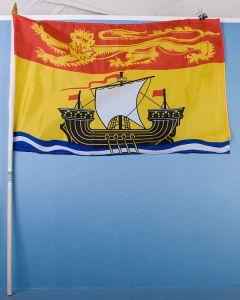 """New Brunswick Flag w/Stick ~ 12"""" x 18"""""""
