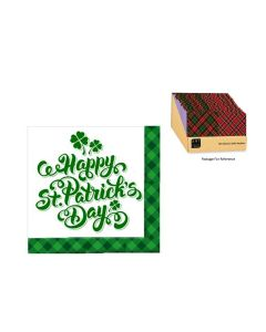 "St. Patrick's Day Beverage Napkins - 10"" x 10"" ~ 16 per pack"