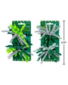 St. Patrick's Day Shamrock Hair Clips ~ 2 per pack