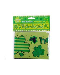 St. Patrick's Day Foil Banner ~ 9'