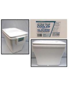 Styrofoam Cooler with Slide Top Lid ~ 26 quart ~ SOLD ONLY BY CASE OF 12
