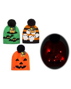 Halloween Kid's Light-Up Knitted Hat with 6 LED Lights