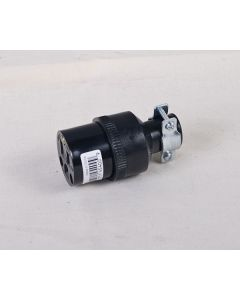 3-Wire Connector w/Clamp ~ Black