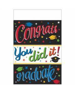 """Congrats Grad! You Did It Tablecover ~ 54"""" x 102"""""""