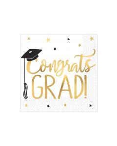 The Adventure Begins! Congrats Grad! Napkins ~ 16 per pack