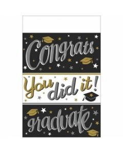 """Congrats You Did It! Plastic Tablecover ~ 54"""" x 102"""""""