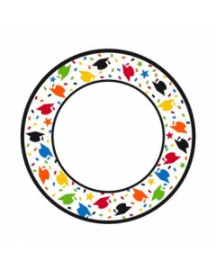 "Confetti Caps Round Plates - 8-1/2"" ~ 40 per pack"