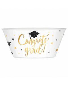 Congrats Grad! Plastic Serving Bowl ~ 120oz