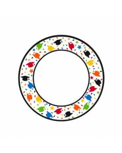 "Confetti Caps Round Plates - 6-3/4"" ~ 40 per pack"