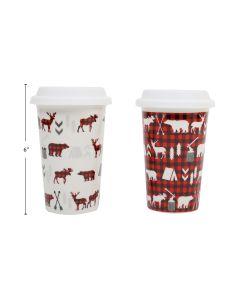 Christmas Ceramic Mug with Silicone Mug ~ 14oz
