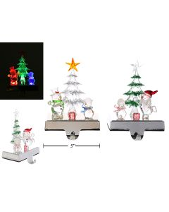 Christmas Light-Up, Color Changing Snowman Stocking Holder