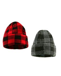 Buffalo Plaid Adult Double Layer Slouchy Hat