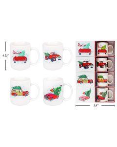 Christmas Truck Mug with Gift Box ~ 16oz