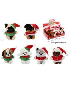 """Christmas Plush Dogs ~ 7"""" High"""
