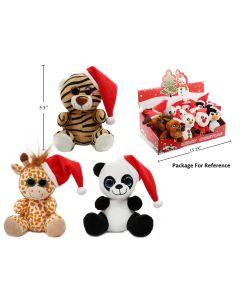 """Christmas Plush Animals ~ 5.5"""" High"""