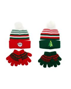 Christmas Kid's Knitted Hat & Glove Set