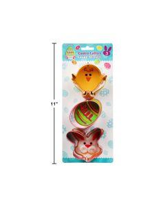 Easter Metal Cookie Cutters ~ 3 per pack