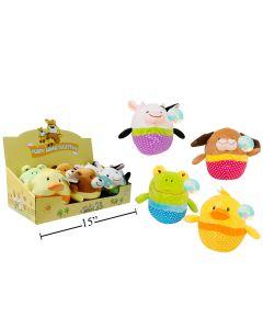 "Easter 5.5"" Plush Egg Shaped Animals ~ 4 assorted"