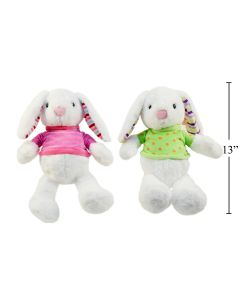 """Easter 9"""" Plush Soft Bunny with Sweater ~ 2 assorted"""