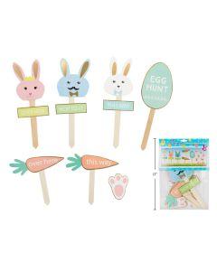 Easter Card Board Egg Hunt Kit ~ 8 pieces