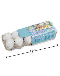 """Easter White Decorate your own Eggs in Egg Carton - 2.25"""" ~ 12 per pack"""