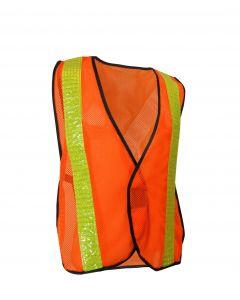 Fluorescent Orange Mesh Safety Vest
