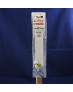 """Lucky Strike Fluorocarbon Rig w/17"""" Leader & Size 2 Hook ~ Ghost"""