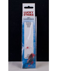 "Lucky Strike Fluorocarbon Rig w/17"" Leader & Size 2 Hook ~ Nickel / Copper"