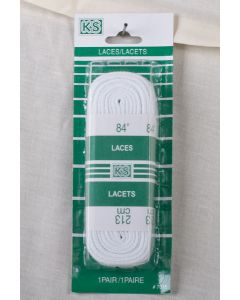 "Sport Laces 84"" ~ White"