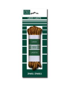 """Brown & Yellow Boot Laces ~ 63"""""""