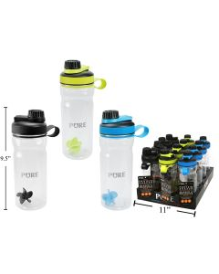 PURE Tritan Protein Shaker with Mixer Ball ~ 860ml