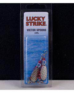 "Lucky Strike Victor Spoon 1"" Hammered Nickel ~ 2 per pack"