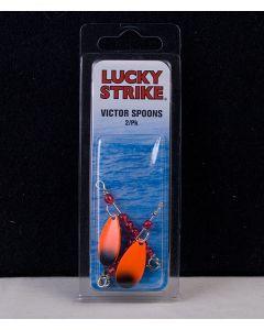 "Lucky Strike Victor Spoon 1"" Orange / Black ~ 2 per pack"