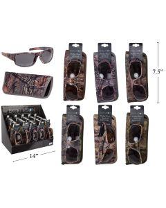 Excel Vision Adult's Camo Sunglasses w/Case