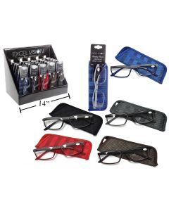 Excel Vision Half Rim Reading Glasses w/Case