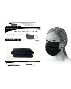 Bodico 3-Ply Disposable Mask - Black ~ 50 per box