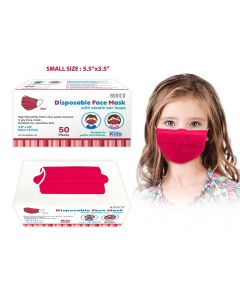 Bodico 4-Ply Disposable Kid's Mask - Red ~ 50 per box