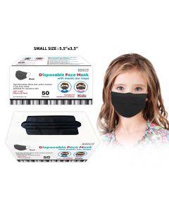 Bodico 4-Ply Disposable Kid's Mask - Black ~ 50 per box