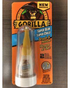 Gorilla Super Glue Brush & Nozzle - 10gr Bottle ~ Display of 6