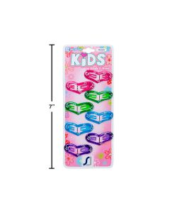 Kid's Snap Barrettes - Heart Shaped ~ 8 per pack
